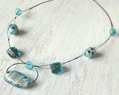 Beautiful Glass Illusion Necklace