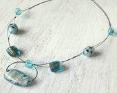 Beautiful Glass Illusion Necklace