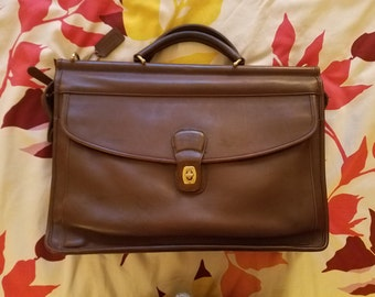 Vintage Mahogany Brown Vintage COACH Leather Satchel Briefcase