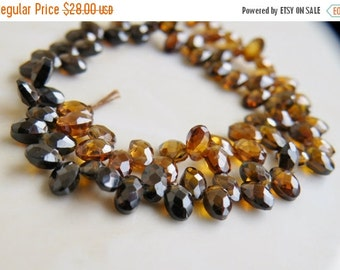 Final 51% off Sale Cubic Zirconia CZ Faceted Oval Briolette Topaz Shaded 5mm 35 beads 1/2 Strand