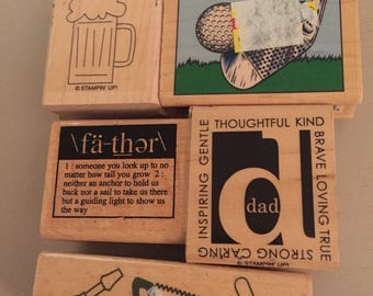 5 Fathers Day Rubber Stamps