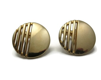 Swank Cufflinks - Mid Century Modern, Gold, Vintage Mens Accessories, 1960s