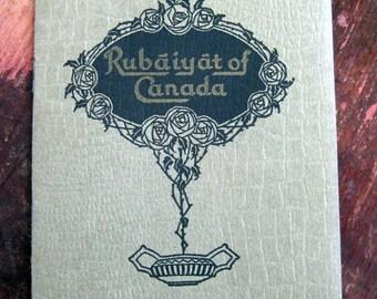 1929 Rubaiyat of Canada Consolidated Distilleries booklet Rare Original Cocktail recipe booklet Illustrated
