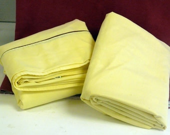 Percale Twin Bed  Sheet Set - vintage - Yellow  65 Percent polyester - 35 percent cotton
