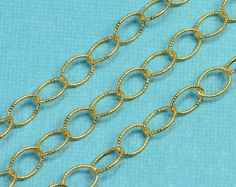 14k/20 Gold Filled 5.7mmx8mm Twisted Cable Oval Bulk Chain By The Foot