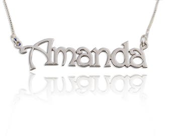50% Off - Girls Customized any sterling silver Name Necklace, hand stamped Perfect Personalized gift for Girl Friend.