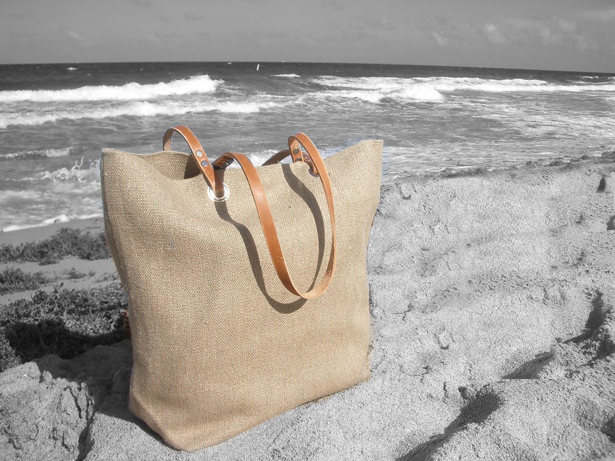 Jute beach bag | Etsy
