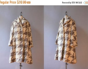STOREWIDE SALE Reserved. . . Vintage Lilli Ann Coat / 1950s Oversized Houndstooth Lilli Ann Coat / 1960s Lilli Ann Checked Wool Coat medium