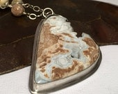 Wyoming Blizzard Sterling Silver Druzy Pendant Necklace