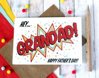 Grandad Card. Father's Day Card. Father's Day Card for Grandad. Grandad. Grandpa. Grandfather. Card for Grandpa. Grandfather Card. Gramps.