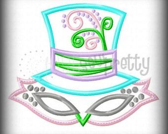 Mardi Gras Pretty Mask 1 Applique Embroidery Design