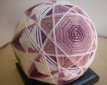 Hand made Temari ball (purple)