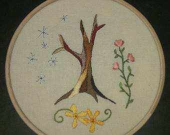 Abstract tree flowers- hand embroidery