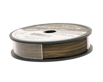 Soft Flex Metallics Antique Brass Beading Wire .019 inch 30ft Brass Metallics, Soft Flex Wire, Metallics Beading Wire, Medium SoftFlex 41371