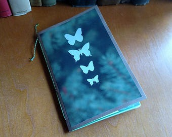 Green Junk Journal Mini Book Decorated Pages Daybook