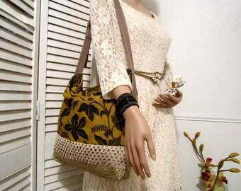Shoulder Bag, Tote Bag Handmade, Casual Bag, Bohemian Bag, Cotton Bag, Hobo School Bag, Floral Shoulder Bag