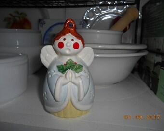 Vintage Porcelain Christmas Angel Potpourri Holder