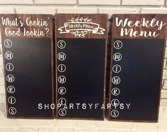 Kitchen Menu Board, Weekly Menu, Meal Planning, Days Of The Week, With