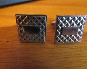 patch work cuff links