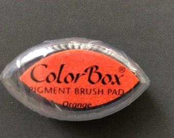 Orange Color Box Pigment Brush Pad