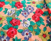 Vibrant Cotton Floral Fabric