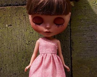 One Shoulder Party Dress for Blythe Dolls - Dusty Rose