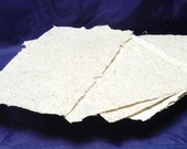 7 Sheets of Handmade Cotton and Cornstalk Paper with Deckle Edges