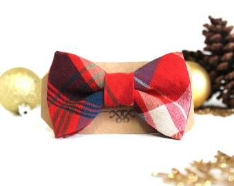 Boys Christmas Bowtie - Kid's Plaid Bow Ties - Christmas Bow Ties for Boys - Plaid Kid Bow tie - Bowtie For Boys - Classic Bow Ties for Boys