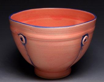 Flamingo Button Ceramic Soup Bowl, Pottery Cereal Bowl