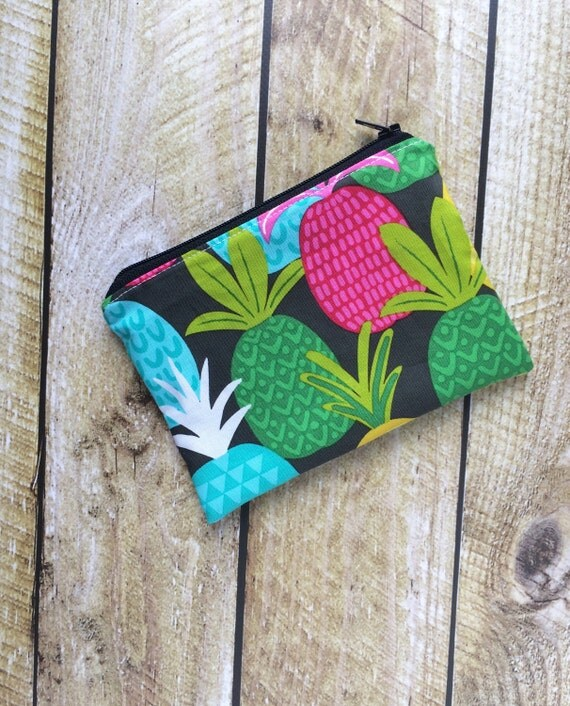 Zippered Snack Bag - Pineapples Snack Bag - Lunch Pouch - Lunch Bag - Snack Pouch - Reusable Snack Bag - Food Bag - Snack Pouch
