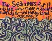 Psalm 95:5 Hand Painted Notecard
