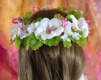 Flower Crown for 18 inch Doll American Girl Doll Flower Crown White and Pink Flower Crown AG Doll Flower Crown Am Girl Doll Flower Crown