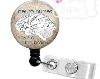 Neuro Nurse brain badge