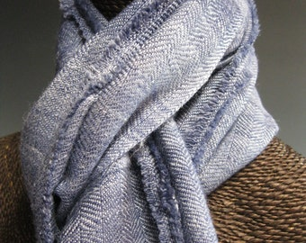 Handwoven Silk and Wool Scarf: The Ballet Dancer's Japanese Jeans