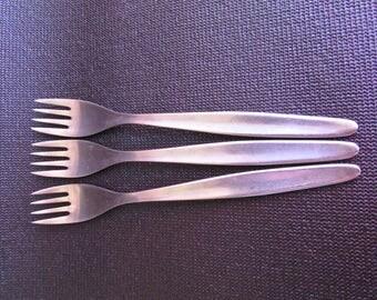WMF Cromargan Laurel Flatware Cutlery Germany 1960's, 3 Salad Forks