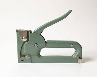 Stapler Heavy Duty Stapler Industrial decor Green stapler Vintage Stapler