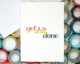 Get Shit Done Journal – Lined Journal – Get Shit Done – Bullet Journal – Lined Notebook – Stitched Journal – Task Journal