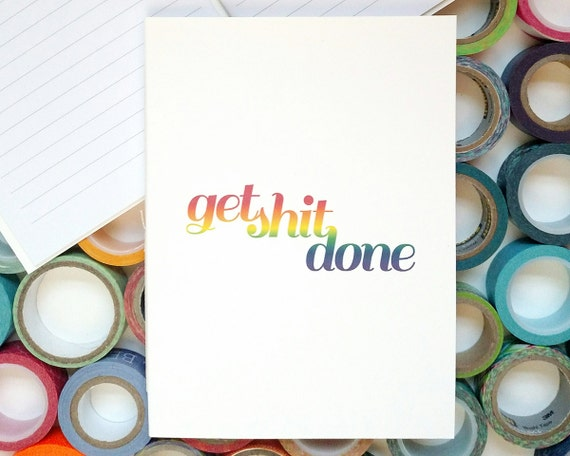 Lined Journal – Notebook – Get Shit Done Journal – Bullet Journal – Lined Notebook – Stitched Journal – Get Shit Done – Task Journal
