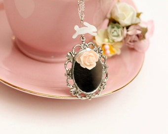 Into the Looking Glass.  Alice in Wonderland Inspired Necklace