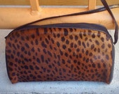 "Italian Pony Hair ""Leopard"" Print Shoulder Bag"