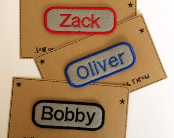 Sew on Name Patches - Made to Order