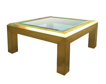 Gorgeous Hekman Brass Glass Top Coffee Table