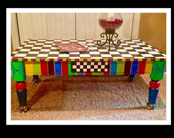 Whimsical Painted Furniture Whimsical Painted Coffee Table Painted Furniture Painted Table