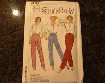 Vintage 1986 Simplicity 7470 pants pattern