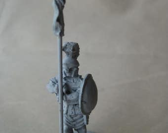 Trojan Warrior Spartan Spear Dungeons and Dragons Figurine Vintage Metal Miniature Not Painted Ral Partha 1977