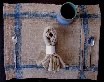 Natural Dyed Linen Place Mats (Set of 2)