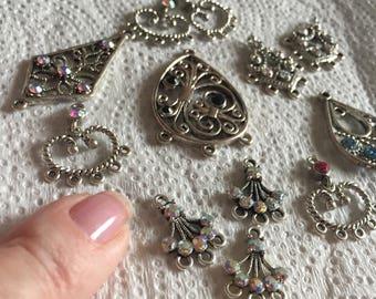Swarovski chandelier pendant, earring findings. Destash