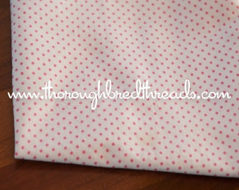 PINK Pin Dots on WHITE - Vintage Fabric Juvenile Novelty Doll Clothes