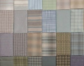 Japanese Taupe fabrics - 24 blue and green fat eighths
