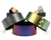 Wide Bangle Bracelet   Vegan Bangle Bracelet   Made in USA